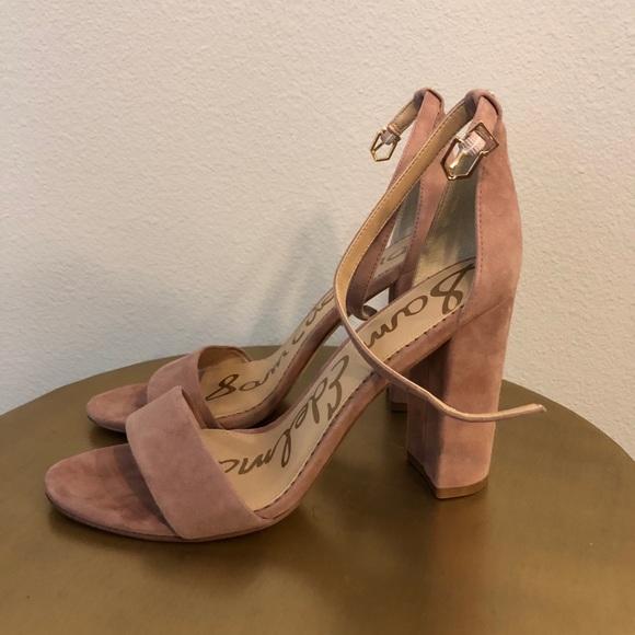 9d36712d686f Sam Edelman Yaro Block Heel Sandal 9.5 Pink Suede.  M 5aefbfb4a825a6ea2c4c9c6e